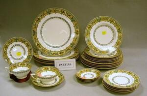 Approximately 105-Piece Minton Plymouth Pattern Porcelain Partial Dinner Service.