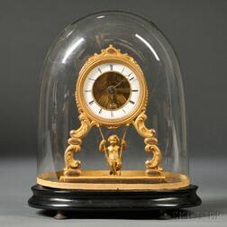 Swinging Cherub Clock by Farcot of Paris