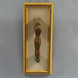 John Whorf (American, 1903-1959)      Carved Door Handle in the Form of a Female Nude