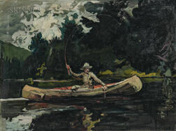 Arthur Clifton Goodwin (American, 1866-1929)      North Woods (After Winslow Homer)
