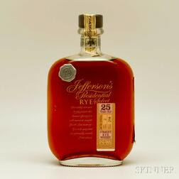 Jefferson's Presidential Select   Rye 25 Years Old