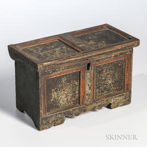 Miniature Painted Paneled Box