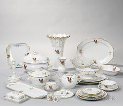 133 Pieces of Herend Porcelain Tableware