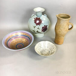Four Pieces of Studio Pottery
