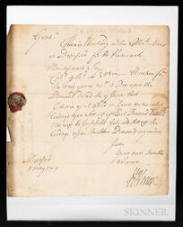 [Horier, William] Letter Signed, 5 May 1709.