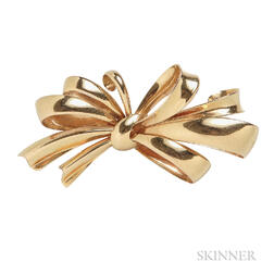 Retro 18kt Gold Brooch