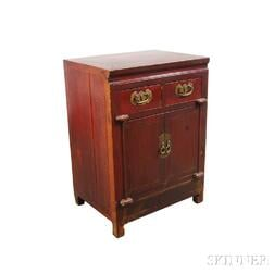 Small Chinese Stained and Carved Hardwood Cabinet