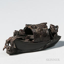 Carved Bamboo Boat