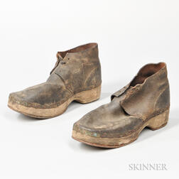 Pair of Confederate Wooden-soled Shoes