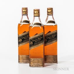 Johnnie Walker Black Label 12 Years Old, 3 4/5 quart bottles
