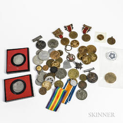 Group of Tokens and Medals