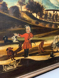 British School, 18th Century      A Provincial Hare Hunt