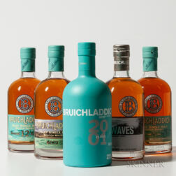 Mixed Bruichladdich, 5 750ml bottles (ot)