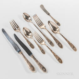 """Gorham """"Old Colonial"""" Pattern Sterling Silver Flatware Service"""