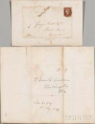 Covers, 1842, Cincinnati, Ohio and Norwich, England.