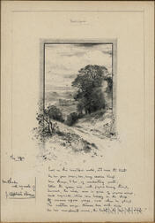 Brown, John Appleton (1844-1902) Original Signed Pencil Sketch.