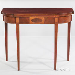 Mahogany Inlaid Card Table