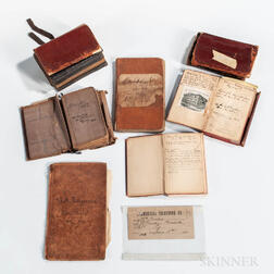 Nine 19th Century William Gurley Day Books or Ledgers