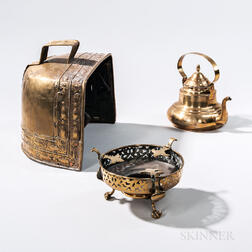 Three Early Brass Cooking Items
