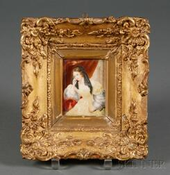 Framed Miniature Painting on Ivory