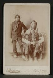 Cabinet Card of Two Southern Plains Indians