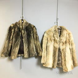 Two Coyote Fur Jackets