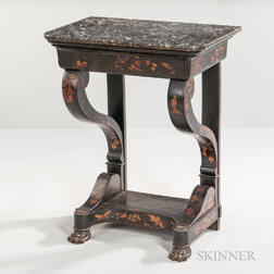 Small Marble-top Console Table