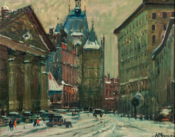 Arthur Clifton Goodwin (American, 1864-1929)      Winter in the City