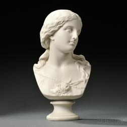 Copeland Parian Bust of Love