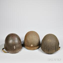 Three M1 Helmets and Liners