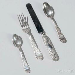 "Forty-two Pieces of Tiffany & Co. ""Chrysanthemum"" Pattern Sterling Silver Flatware"