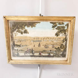 Framed French Hand-colored Engraving of Portsmouth
