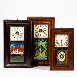 Three Ogee Shelf Clocks