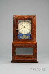 "Rosewood ""Parlor No. 2"" Variant Shelf Clock probably by Atkins, Whiting & Company"