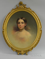 Attributed to Samuel Bell Waugh (American, 1814-1885)       Portrait of Gertrude Monroe Smith