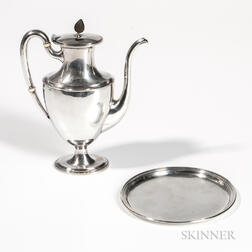 Two Pieces of Arthur Stone Sterling Silver Tableware