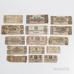 Small Group of Confederate and Southern States Banknotes