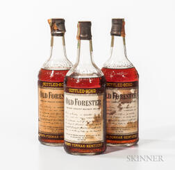 Old Forester 5 Years Old 1937, 3 4/5 quart bottles