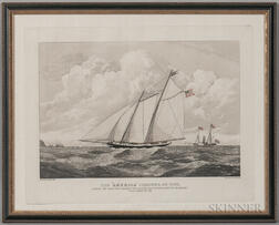 "Framed Duncan Print The ""America"" Schooner"