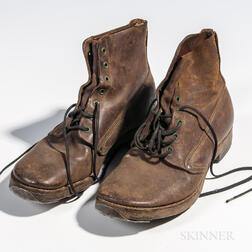 Pair of WWI-era Pershing Boots