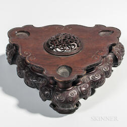 Large Carved Wood Stand