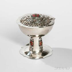 Edward VII Arts and Crafts Sterling Silver Potpourri and Cover