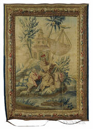 Aubusson Tapestry of The Fisherman's Surprise