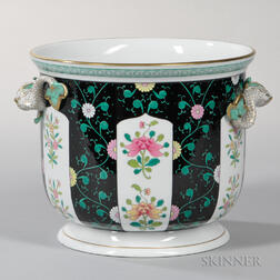 Herend Porcelain Black Dynasty Jardiniere