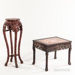 Marble-top Side Table and Stand