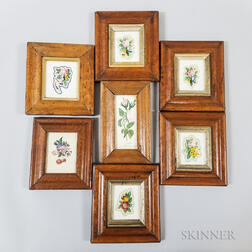 Seven 19th Century Maple Frames