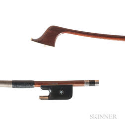 Silver-mounted Contrabass Bow