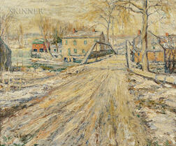 Ernest Lawson (American, 1873-1939)      Winter Road