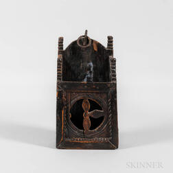 Carved Oak Hanging Wall Box