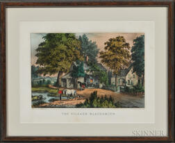 Currier & Ives, Publishers (American, 1857-1907) Lithograph The Village Blacksmith